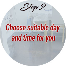 choose suitable day and time for you
